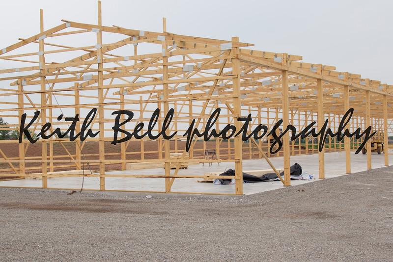 Frame being built for Storage Unit building lumber