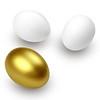 Golden Egg Surprise! Isolated on white