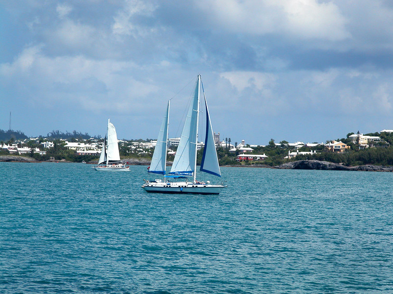 Sailboat off Hamilton Bermuda