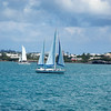 Sailboat off Hamilton Bermuda