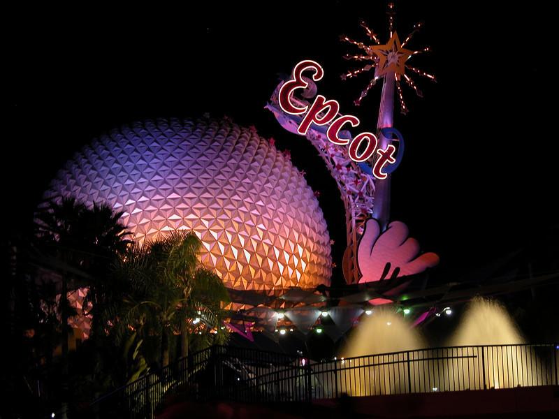 EPCOT at night - Oct 2006
