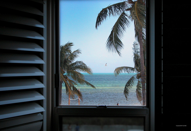 Window to Smathers Beach -  from the Sheraton Suites Key West, FL