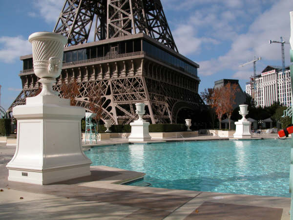 Eiffel Tower and pool