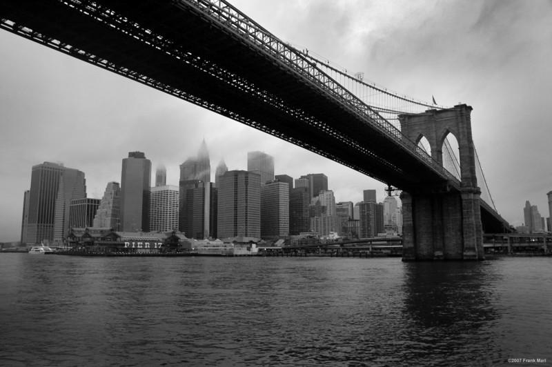 Lower Manhattan Under The Brooklyn Bridge