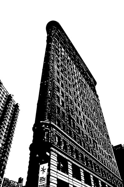 Flatiron Bldg bw high contrast