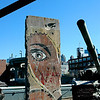 Berlin Wall section at the Intrepid Museum in New York City