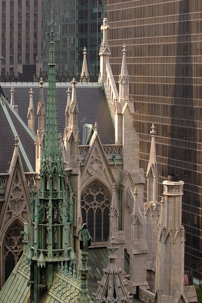 """St Patrick's Cathedral"" from Madison Avenue"