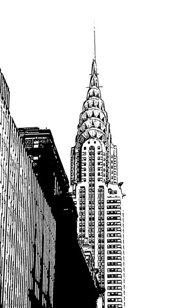 Chrysler Building High Contrast Black and White