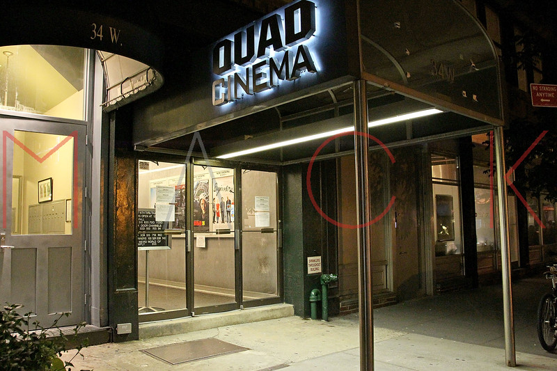 New York, NY - September 16:  Exterior of The Quad Cinema on Friday, September 16, 2011 in New York, NY.  (Photo by Steve Mack/S.D. Mack Pictures)