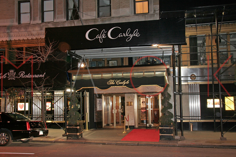 New York, NY - February 25:  Exterior of Cafe Carlyle on Monday, February 25, 2008 in New York, NY.  (Photo by Steve Mack/S.D. Mack Pictures)