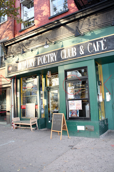 New York, NY - October 25:  Exterior of Bowery Poetry Club on Sunday, October 25, 2009 in New York, NY.  (Photo by Steve Mack/S.D. Mack Pictures)