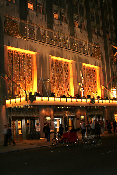 New York, NY - October 07:  Exterior of The Waldorf Astoria on Sunday, October 7, 2007 in New York, NY.  (Photo by Steve Mack/S.D. Mack Pictures)