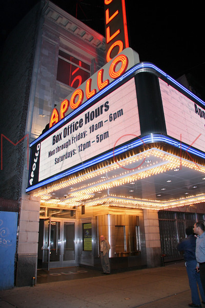 New York, NY - November 10:  Exterior of The Apollo Theater on Monday, November 10, 2008 in New York, NY.  (Photo by Steve Mack/S.D. Mack Pictures)