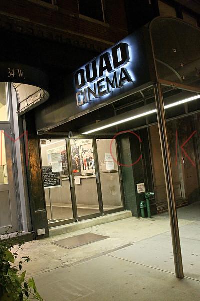 New York, NY - September 16:  Exterior of The Quad Cinema on Friday, September 16, 2011 in New York, NY.  (Photo by Steve Mack/S.D. Mack Pictures)