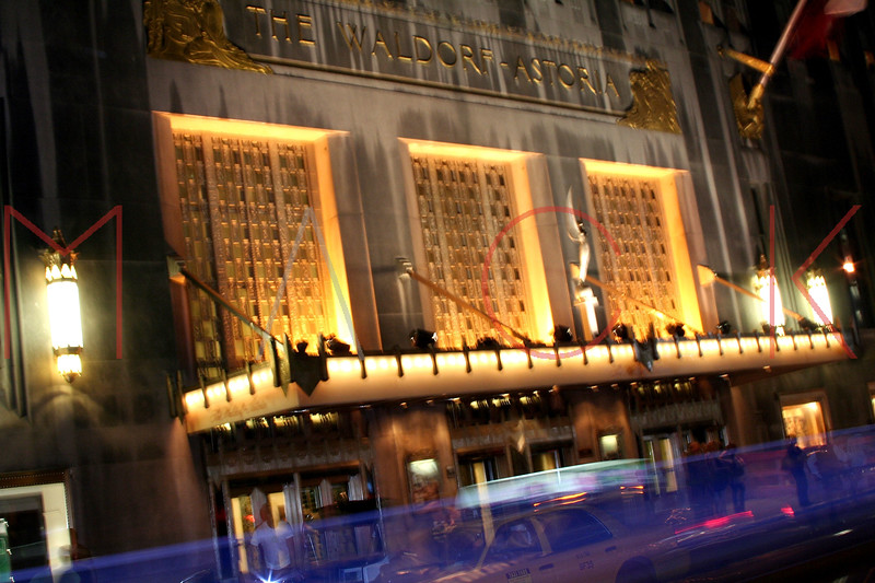 New York, NY - October 06:  Exterior of The Waldorf Astoria on Saturday, October 6, 2007 in New York, NY.  (Photo by Steve Mack/S.D. Mack Pictures)