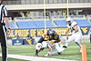 WVU vs. Baylor in football action at Mountaineer Field at Milan Puskar Stadium during the Covid-19 pandemic to empty seats and only players as fans families. October 3, 2020. (WVU Photo/Greg Ellis)