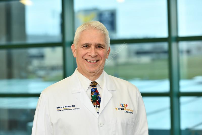 Dr. Weisse ,WVU Medicine Children's Hospital poses for a portrait at the POC January 29, 2020. (WVU Photo/Greg Ellis)