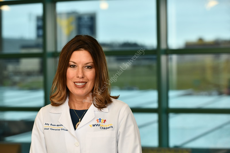 Amy Bush CFO WVU Medicine poses for a portrait at the POC January 29, 2020. (WVU Photo/Greg Ellis)
