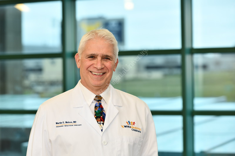 Dr. Weisse ,WVU Medicine Children's Hospital poses for a portrait at the POC January 29, 2020. (WVU Photo/Greg Ellis)