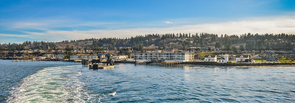Ferry Ride From Mukilteo to Whidbey Island On A Beautiful Sunny Winter Day