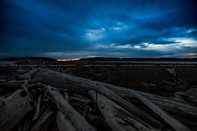 Keystone Beach on a Winter Sunset