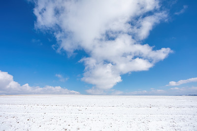 Simple winter background with blue sky