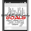 Goals Word Cloud Concept of Touchscreen Phone with great terms such as smart, smarter, set, change, high and more.