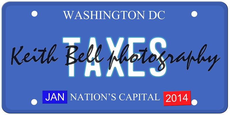 Taxes Washington DC License Plate