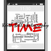 Time Word Cloud Concept of Touchscreen Phone with great terms such as and more.