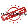 Red Weathered Focus Group Stamp Circle and Stars design