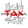 Tax Word Cloud Concept in Red Caps with great terms such as rate, federal, state, income, codes and more.