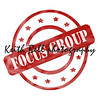 Red Weathered Focus Group Stamp Circles and Stars