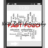 Fast Food Word Cloud Concept of Touchscreen Phone with great terms such as obesity, grease, oil, hamburger, fries and more.