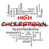 High Cholesterol Word Cloud Concept in Red & Black