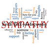 Sympathy Word Cloud Concept with great terms such as sorrow, feelings, loss, support, prayers, thoughts and more.