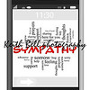Sympathy Word Cloud Concept of Touchscreen Phone with great terms such as empathy, thoughts, prayers, family and more.