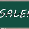 Sale Written on Blackboard making a great concept