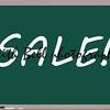 Sale Written on Blackboard making a great concept