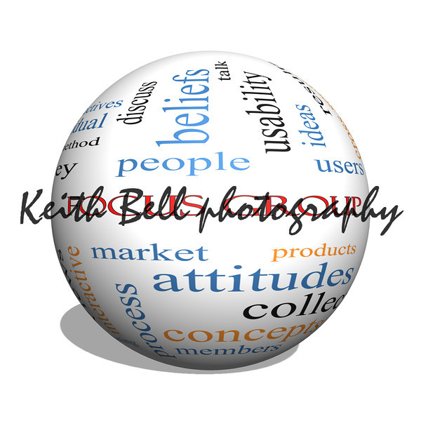 Focus Group 3D sphere Word Cloud Concept
