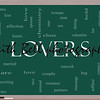 Lovers Word Cloud Concept on a Blackboard with great terms such as smooch, sensual, chemistry, sex, lust and more.