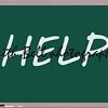 Help Written on Blackboard making a great concept