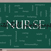 Nurse Word Cloud Concept on a Blackboard