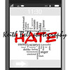 Hate Word Cloud Concept on Touchscreen Phone