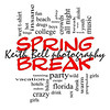 Spring Break Word Cloud Concept in Red Caps with great terms such as girls, wild, college, drunk, party and more.
