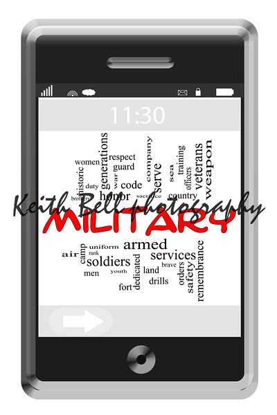 Word Cloud Concept of Touchscreen Phone with great terms such as brave, service, country, duty and more.