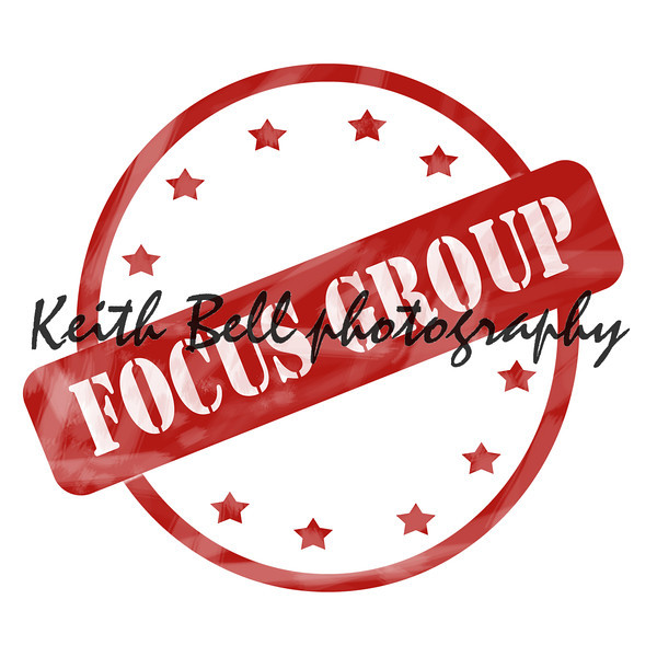 Red Weathered Focus Group Stamp Circle and Stars