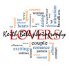 Lovers Word Cloud Concept with great terms such as smooch, sensual, chemistry, sex, lust and more.