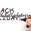 Black Friday being handwritten
