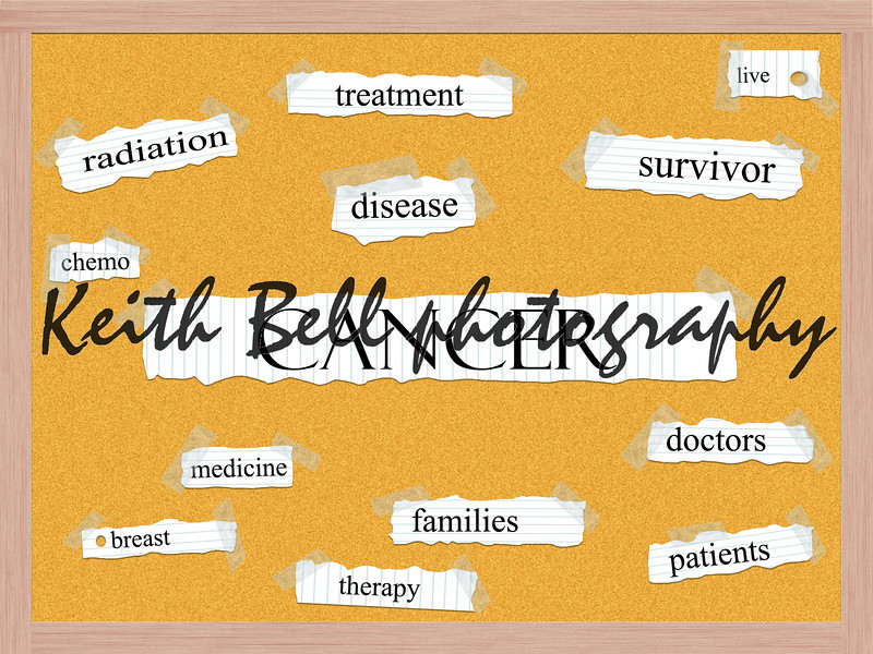 Cancer Corkboard Word Concept with great terms such as and more.