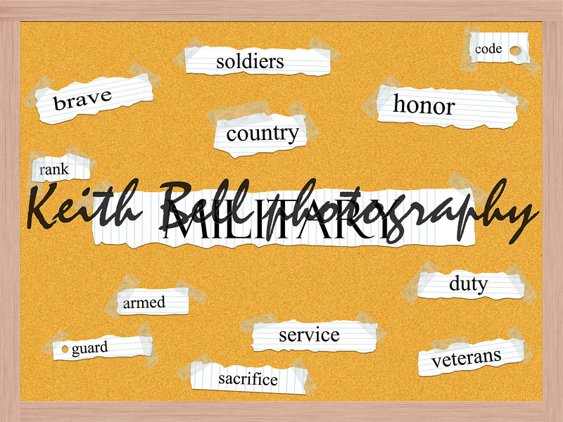 Military Corkboard Word Concept with great terms such as rank, country, soldiers, honor and more.